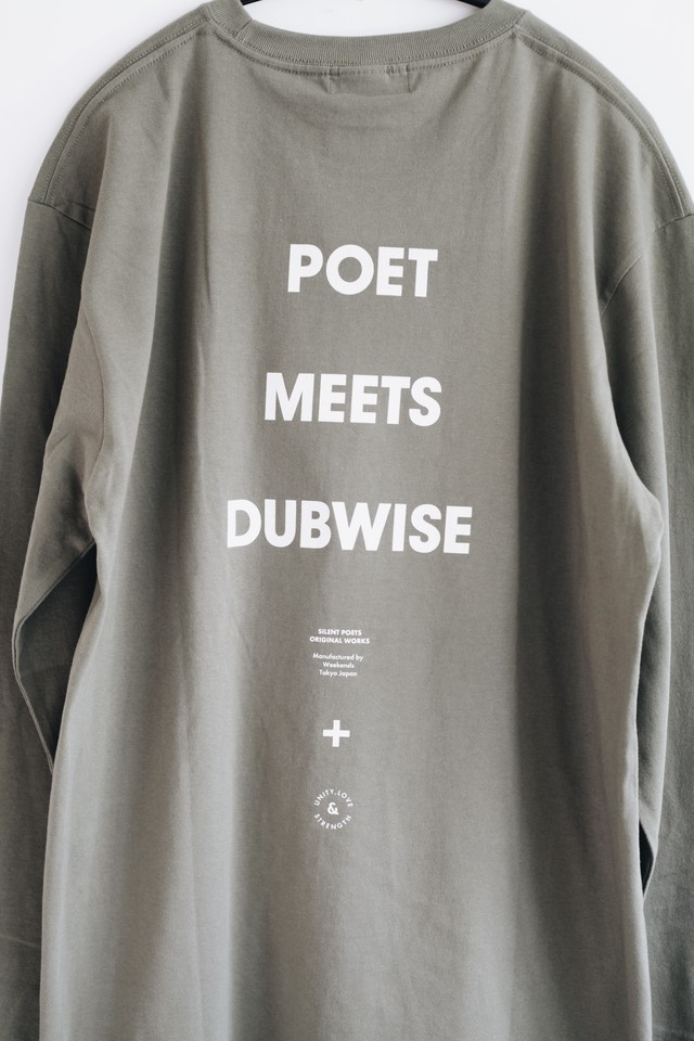 【POET MEETS DUBWISE(ポエトミーツダブワイズ)】PMD Logo Long Sleeve T-Shirt(PMDLS-0220)