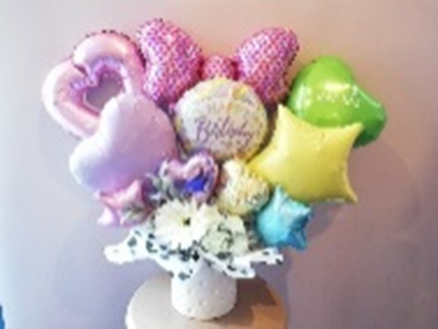 バルーンアレンジ+Happy Birthday