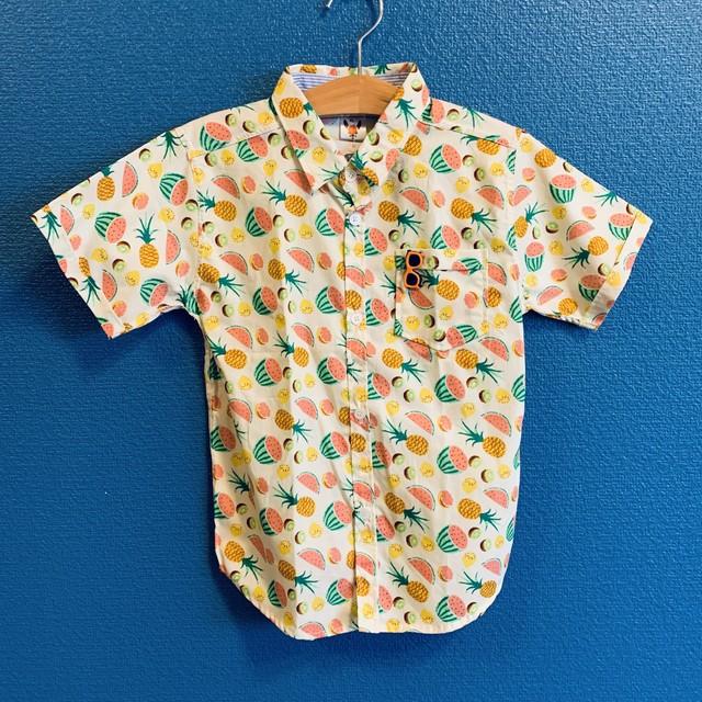 フルーツミックスキッズアロハシャツ