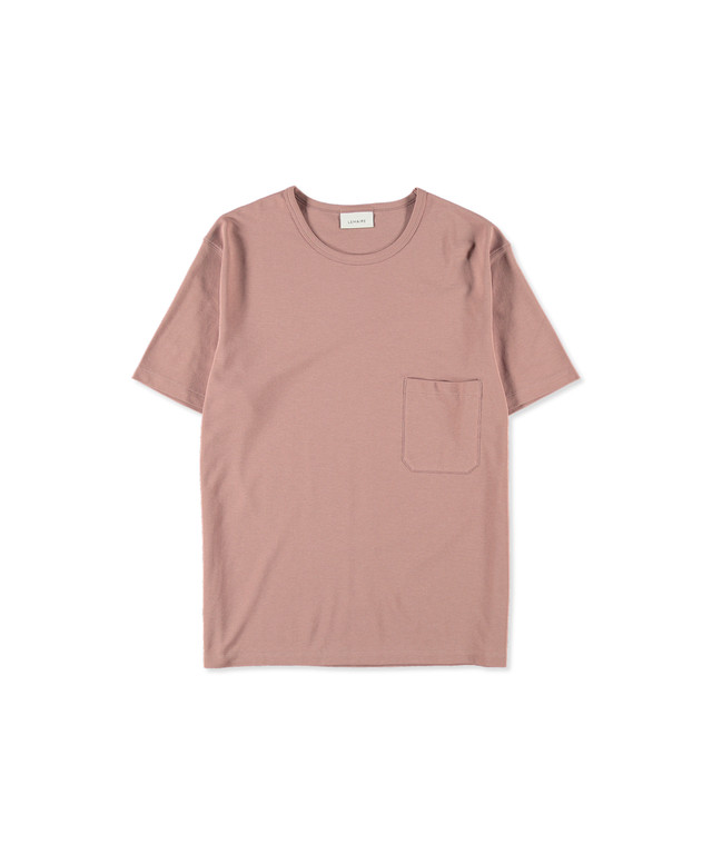LEMAIRE CREPE T-SHIRT Smoked Pink M 201 JE166 LJ054310