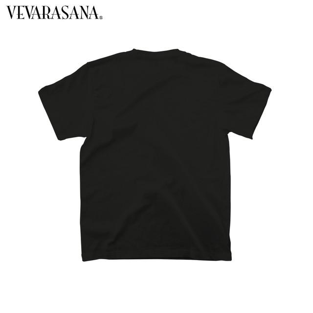 VEVARASANA®︎ ロゴTシャツ BLACK