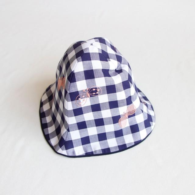 《mina perhonen 2020SS》choucho 帽子 / navy