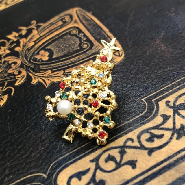 クリスマスリース タック(金色)