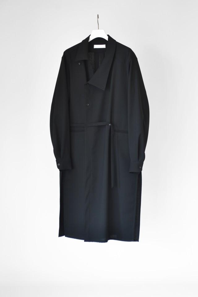 ETHOSENS long shirt coat(E220 301)  Black