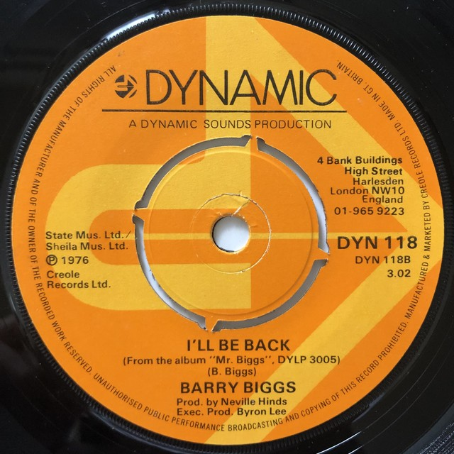 Barry Biggs - I'll Be Back【7-20674】
