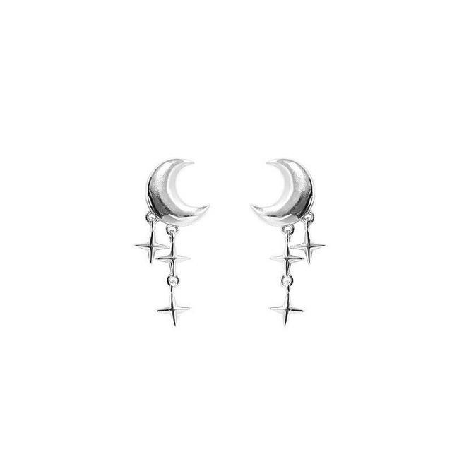 輝き零れ落ちる月のドロップピアス | シルバー925 | レディース | 金属アレルギー