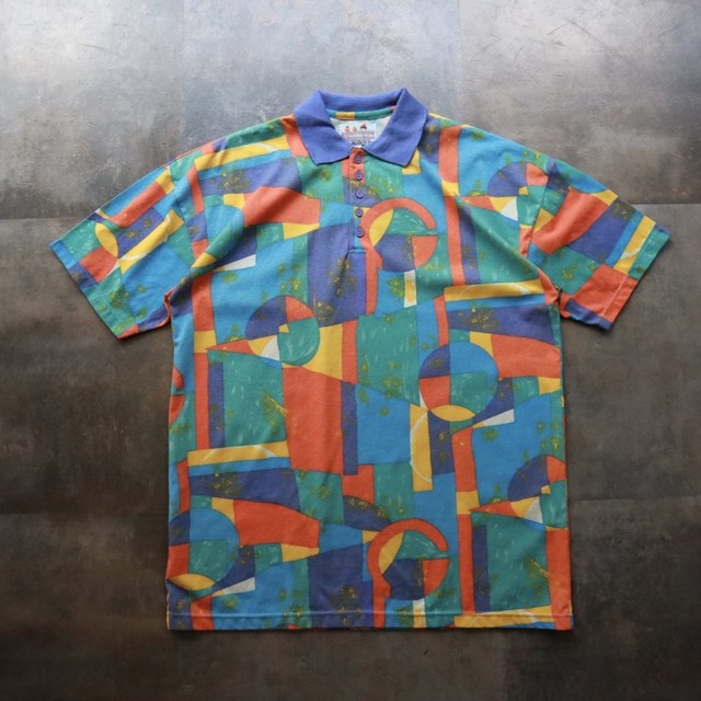 pattern all over art polo shirt