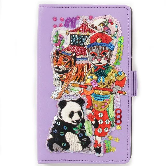 刺繍モバイルケースL Chinoiserie