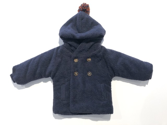 【19AW】ワンモアインザファミリー (1 + in the family) - JACKET(HALIFAX)dark blue/12m・24m・48m