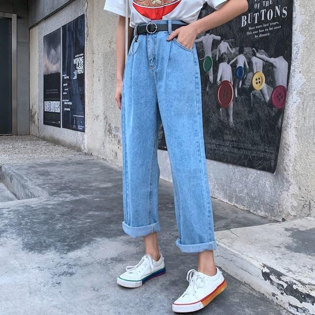 【bottoms】淡い色細身デザインベルト付きパンツ
