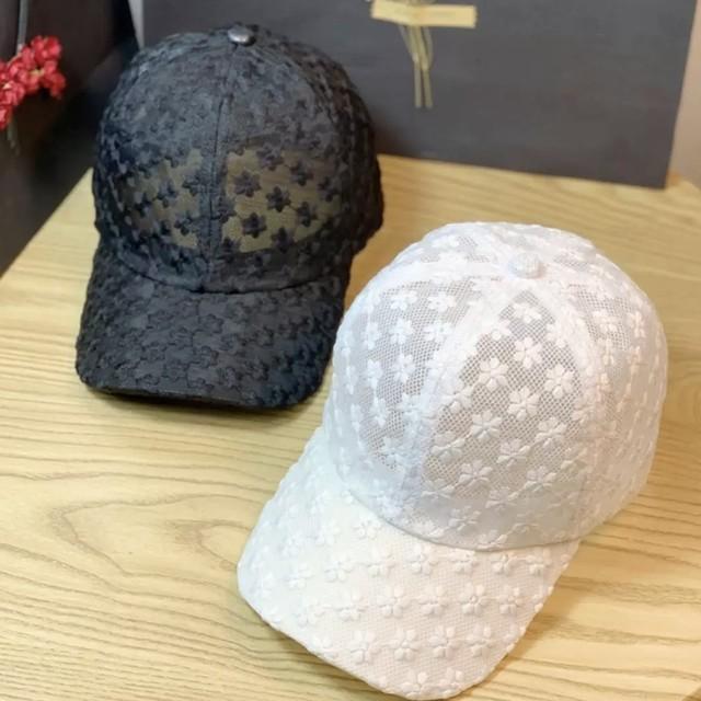 キャップ 帽子 メッシュ 花柄 2色 B8076