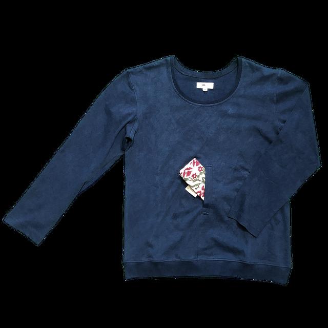 チャイワラ・長袖Tシャツ 藍染め