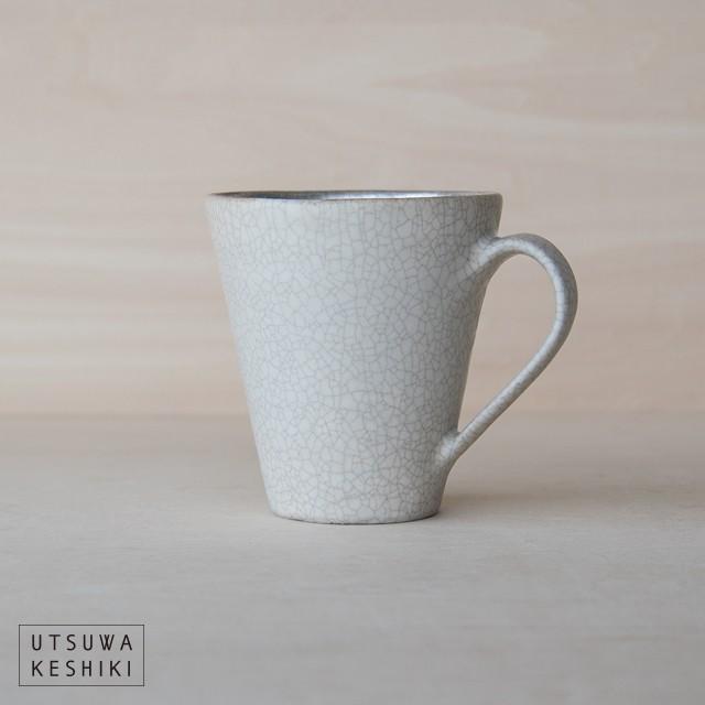 [谷井 直人]白×シルバー マグカップ
