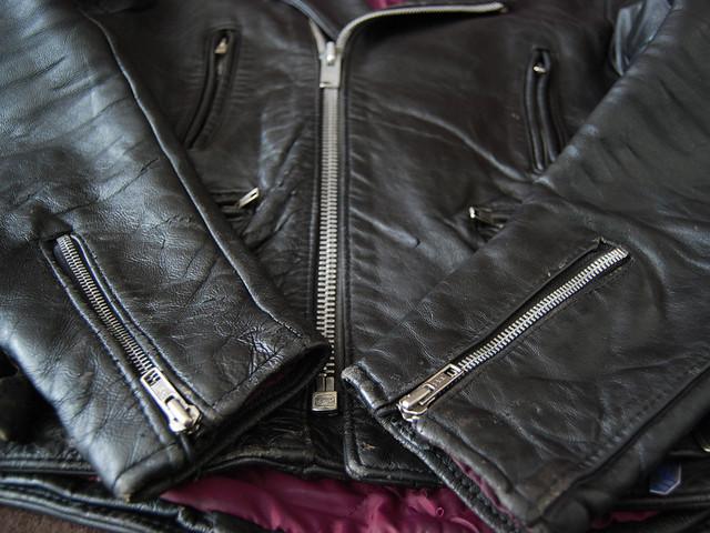 """70's """"TT Leathers"""" UK ダブルライダースジャケット"""