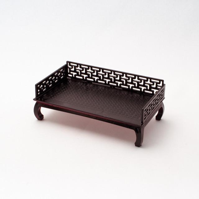 中国風ミニチュア家具/羅漢床(樹脂製)