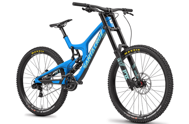 SANTA CRUZ BICYCLES  V10 Carbon 27.5 FRAME DVO JADE 仕様 サイズM Gloss Blue & Mint