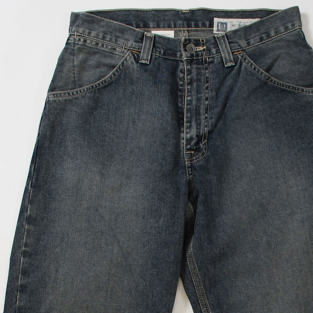 【w31】GAP ギャップ WORKER DENIM PANTS ワーカーズデニムパンツ INDIGO 31×32 400612191009