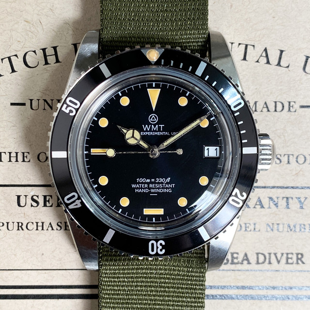 WMT WATCH SEA DIVER MWM EXCLUSIVE Small Crown Glossy Date  (NH35) WMT1704-03