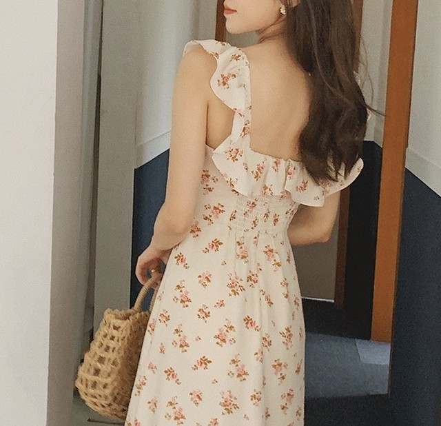 flower apron slit one piece
