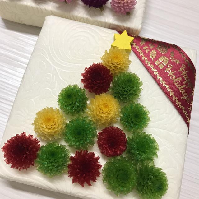 プリザーブドフラワーで作る★ミニクリスマスツリー*送料無料*