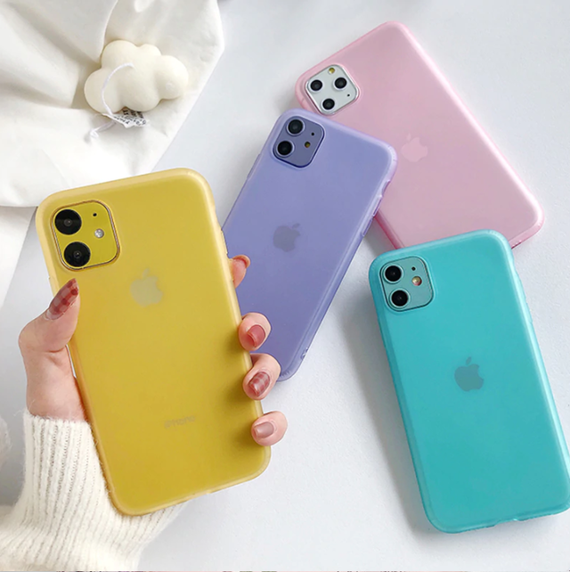 Colorful transparent iphone case