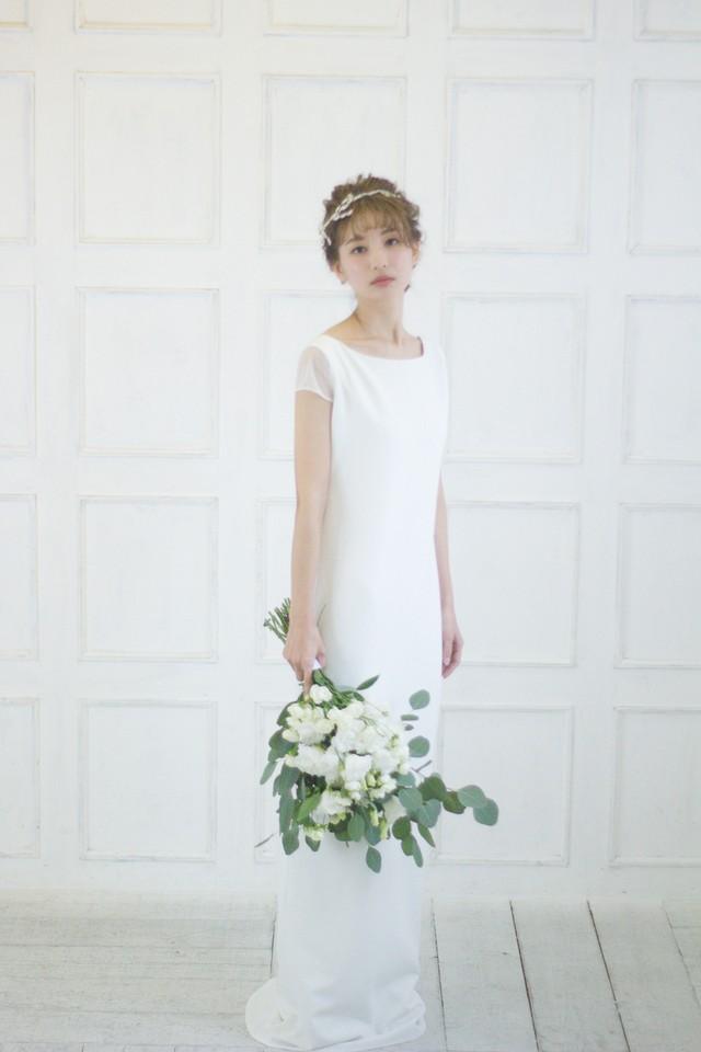 Sage♡サテン生地のセパレートドレス