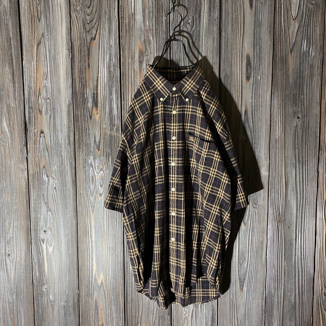 [Burberry]brown nova check shirt