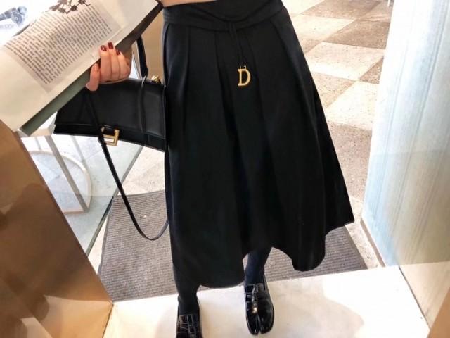 シンプルニットスカート ニットスカート 韓国ファッション