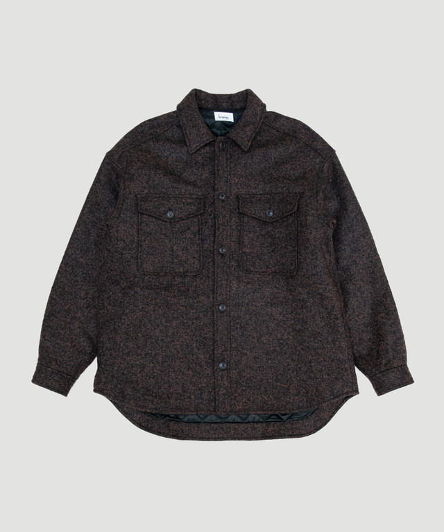 Lownn Quilted Over Shirt Brown 19AW-LOW-QOS