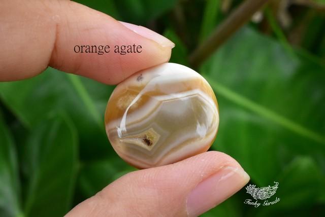 秘密の縞模様★橙色瑪瑙★オレンジアゲート★ aget004