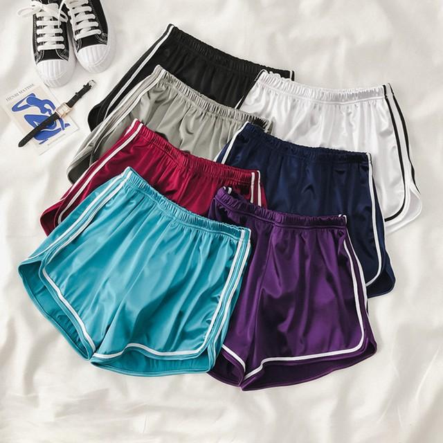 【bottoms】スポーツ系ワイドジョギングヨガジム用フィットネス用ショートパンツ
