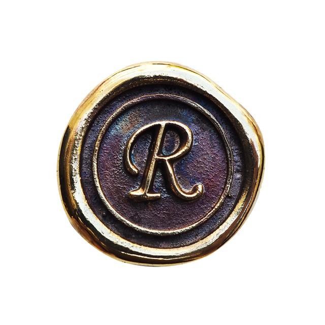 シーリングイニシャル S 〈R〉 ブラス / コンチョボタン