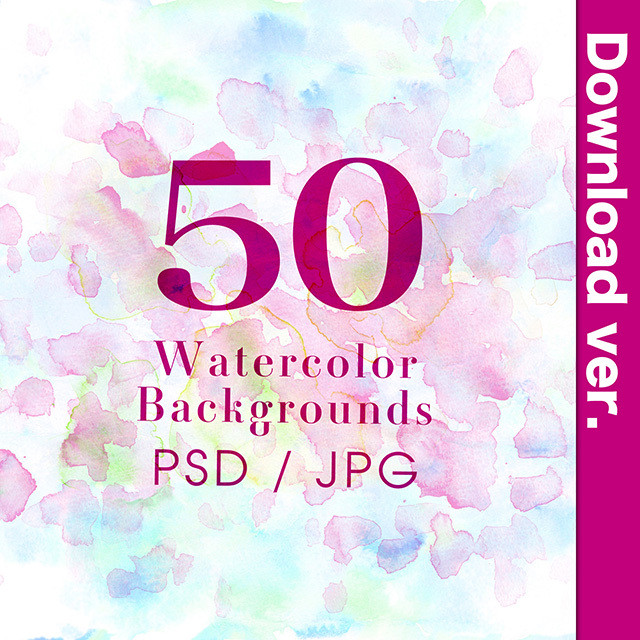 ★50%OFF★水彩素材集3-2/Water_Color_PSD_3-2