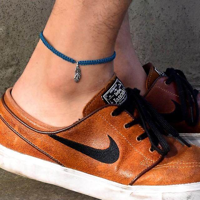 【メール便送料無料】Feather Anklet Blue【品番 17S2012】