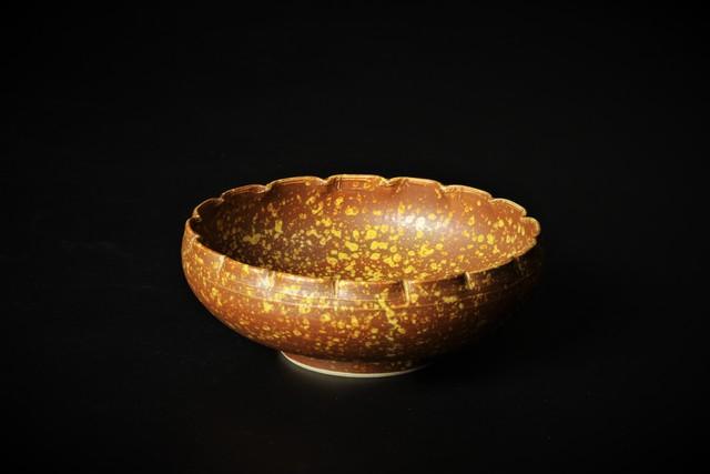 伊羅保菊割小鉢 清水焼