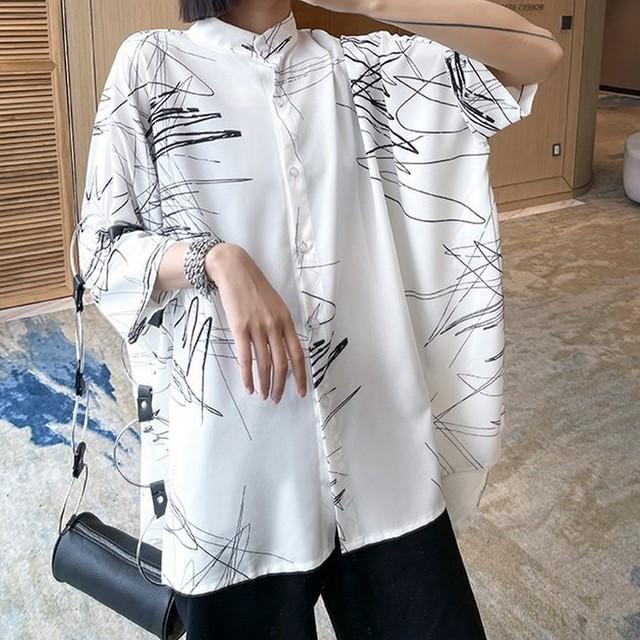 落書きプリントシャツ   1-099