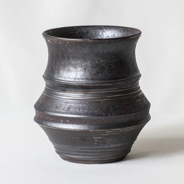 Roughness Black Plants Pot(No,04)※LARGE