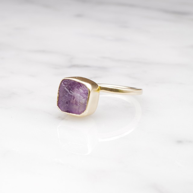 ROUGH STONE RING GOLD 008
