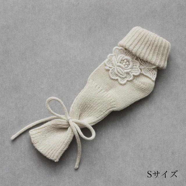 あなの開いた靴下 薔薇モチーフ(1組)