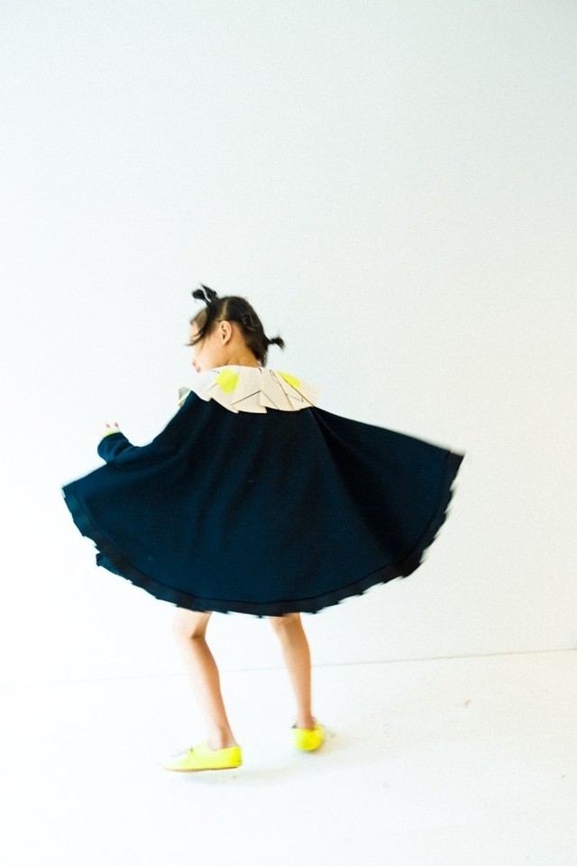 DOUBLE KNIT PONCHO DRESS -BEAR PATCH Mサイズ 送料無料