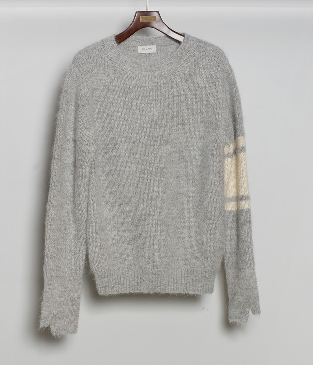 BED J.W. FORD /  Mohair Crew Neck Sweater(L.GRAY)