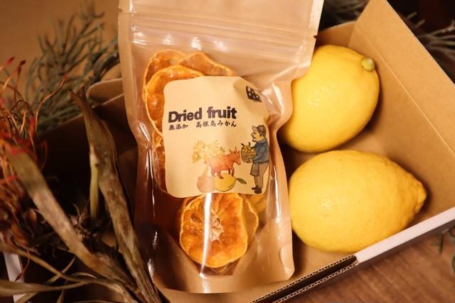 【限定パッケージ】高根島みかん無添加ドライフルーツ+瀬戸田産レモン2個セット