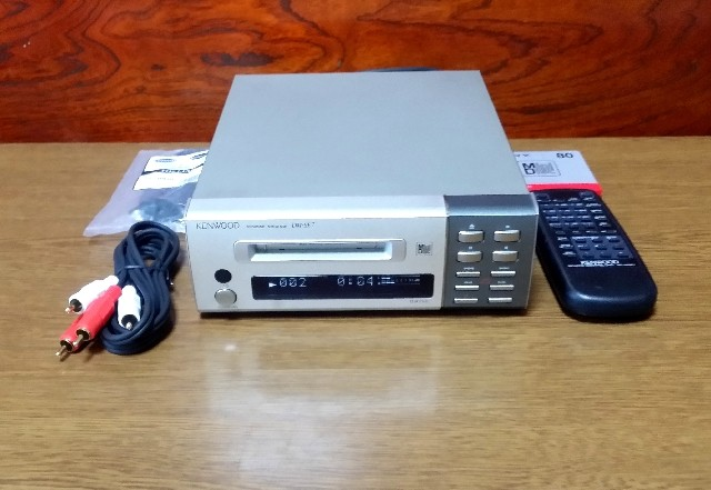 KENWOOD MINIDISC RECORDER DM-SE7 リモコン付き・完動品