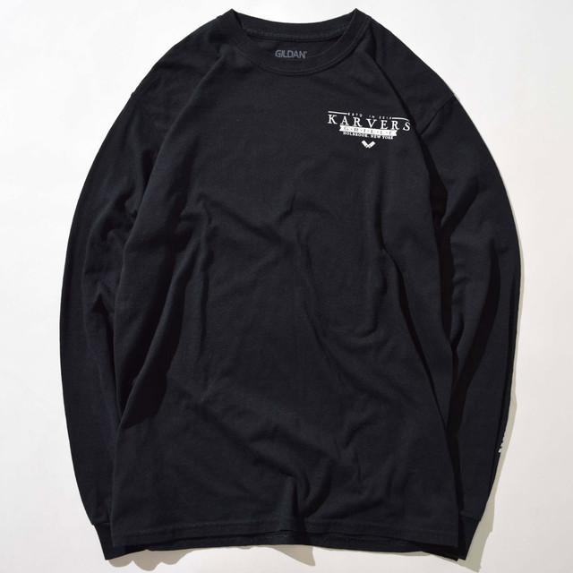 【Mサイズ】KARVERS カバーズ GRILLE LOGO グリルロゴ L/S TEE 長袖Tシャツ BLACK ブラック M 400601200103