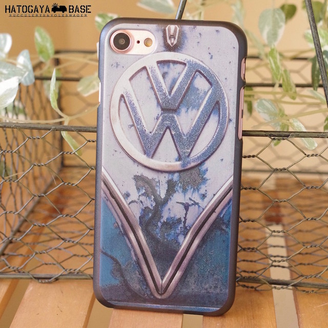 iPhoneケース RUSTY VW Early BUS BLUE