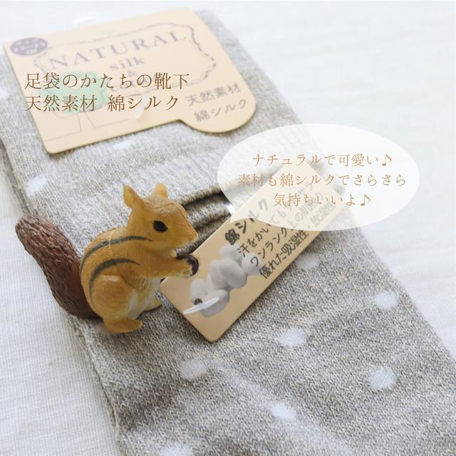 【靴下】足袋かたちの靴下 綿シルク / 23~25cm