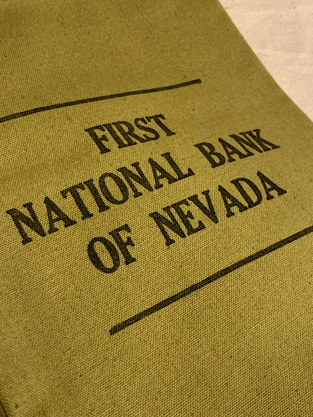 "BANK BAG "" NATIONAL BANK OF NEVADA """