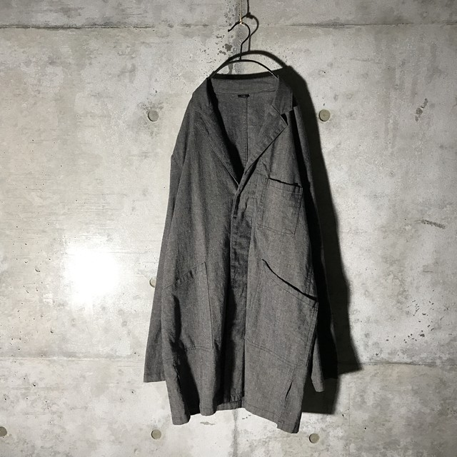 [used] black poly coat