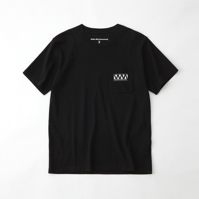 WM LOGO POCKET T-SHIRT - BLACK