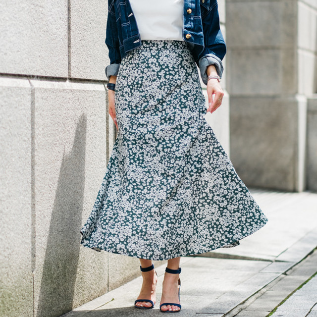 flower long skirt(グリーン)